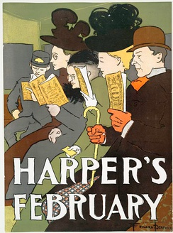 An 1895 cover of Harpers, a US magazine that prints a number of essays per issue.