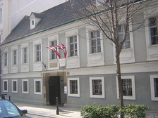 The house in Vienna (now a museum) where Haydn spent the last years of his life