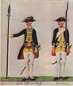 Hessian soldiers of the Leibregiment