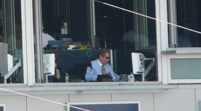 John Sterling broadcasting a game.