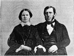 Jane and Samuel Kirkwood, 1852.
