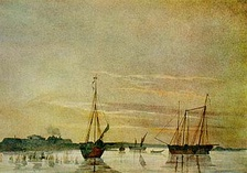 Шхуны Аральской экспедиции— рисунок Т.Г.Шевченко