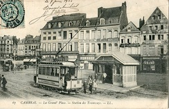 The tramway in 1905, in the main square