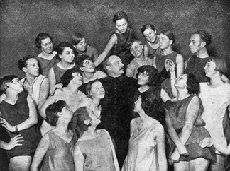 Rudolf von Laban and pupils at his dance school, Berlin 1929