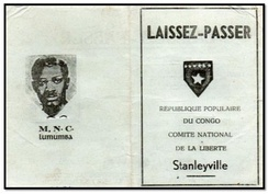 Official pass issued by the People's Republic of the Congo