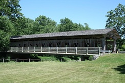 Lake of the Woods forest preserve covered bridge.[11]