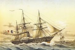 French paddle frigate Descartes