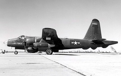 Side view of RB-69A (S/N 54-4037), the first converted P2V-7U (BuNo 135612)