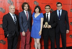 Executive produers Lorne Michaels, Jonathan Krisel, Carrie Brownstein, Fred Armisen and Andrew Singer at the Peabody Awards.