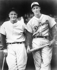 Gehrig and Hank Greenberg in 1935