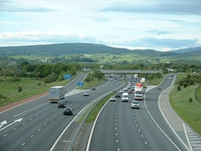 The M6 motorway is one of the North West's principal roads