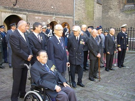 Six knights of the Military William Order at the Binnenhof (The Hague, Netherlands) on 29 May 2009.