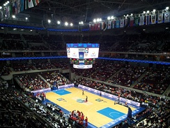 The Mall of Asia Arena during a 2013 FIBA Asia Championship match between China and Iran