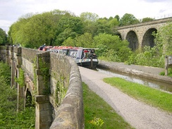 The Marple Aqueduct crossing the River Goyt