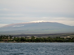 Mauna Kea is the tallest volcano in the Hawaiian–Emperor seamount chain. It is dormant and it has cinder cones growing on the volcano.