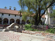 The Mission's lavandería was constructed by the Chumash Indians around 1806.
