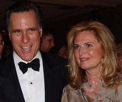 Mitt and Ann Romney at the White House Correspondents Dinner, 2005