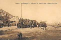 Station Bar and the railway to Virpazar in around 1910
