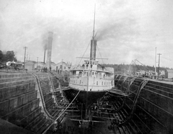 Olympian at the dry dock in Esquimalt, BC.