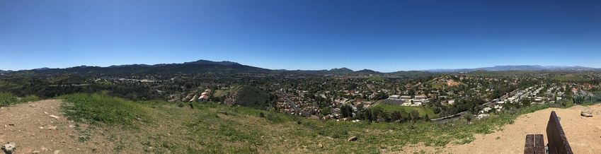 Western Thousand Oaks as seen from atop Tarantula Hill.