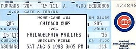 A ticket from the game where Gossage earned his 300th save.