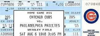 A ticket from the game where Goose Gossage became the second player in MLB history to earn 300 career saves on August 6, 1988.