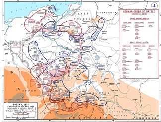 Forces as of 31 August and German plan of attack.