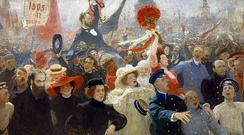 A scene from the First Russian Revolution, by Ilya Repin.[41][42]