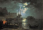 Moon Night in Naples, 1828