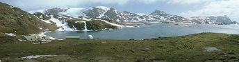 Signy Research Station and panorama, South Orkney Islands.