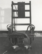 """Old Sparky"", the electric chair at Sing Sing prison in the early 20th century"