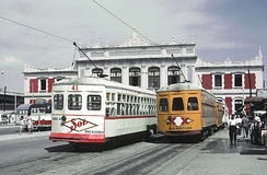 City tramway in 1966