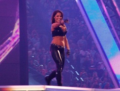 Trish making her entrance at WrestleMania XXVII in April 2011
