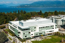 Aerial view of the UBC Faculty of Law building