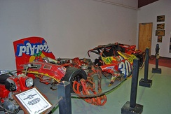 This is what was salvaged from Waltrip's 1990 Kool-Aid sponsored Busch Series car after his accident at Bristol.[1]