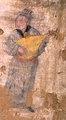 A mural from a Yuan dynasty tomb found in Hengshan County, Shaanxi, showing a man playing the pipa