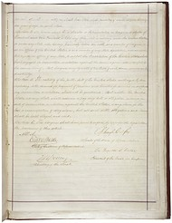The two pages of the Fourteenth Amendment in the National Archives