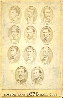 1873 Boston Red Stockings team picture; it finished first with a record of 43–16