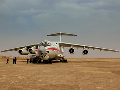 Ilyushin Il-76 strategic military airlifter used by Air Koryo