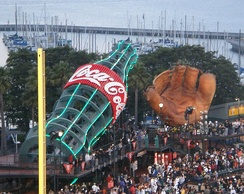 The Coca-Cola bottle and old-fashioned glove