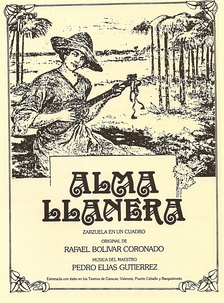 Cover of the first edition of Alma Llanera, unofficial second national anthem of Venezuela
