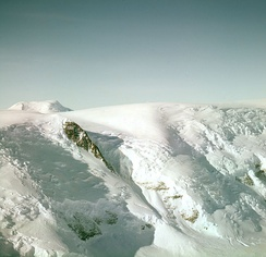 An unidentified portion of the Axel Heiberg Glacier, Amundsen's route to the Antarctic Plateau (also called the polar plateau)