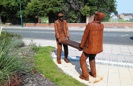 Bad Back: a sculpture for the new Eco-Village, by Ray Lonsdale.