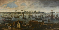 View of the Pier of Antwerp from the Vlaams Hoofd