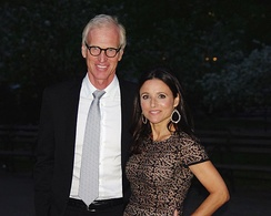 Louis-Dreyfus and her husband Brad Hall at the 2012 Tribeca Film Festival