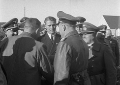 Todt with Wernher von Braun at Peenemünde, 21 March 1941