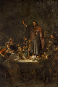 The Raising of Lazarus by Carel Fabritius is displayed in the Gallery of Old Masters