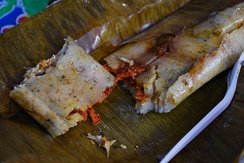 Mexican tamales made with corn meal