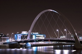 "Clyde Arc, also known as ""Squinty Bridge"""