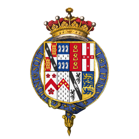Coat of arms of Robert Spencer, 2nd Earl of Sunderland, KG, PC